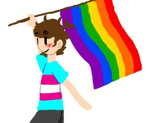 this is GAY... pride month hahaha get it haha