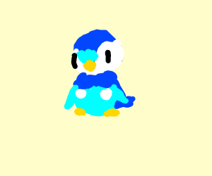 Fave Pokémon (pio?) (drawing was of piplup)