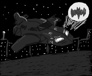 Batman makes a bat mobile airplane