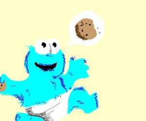 Neon cookie monster baby