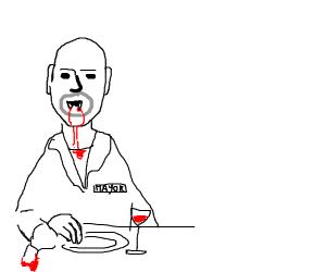 Mayor vampire has dinner