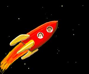 Exploring Space in a rocketship