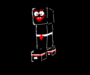 minecraft creeper spongebob
