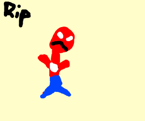 Sad Spiderman because he got fired