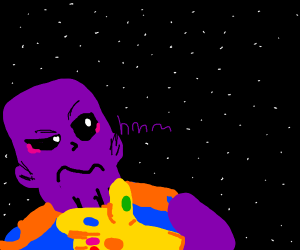 thanos gazes longingly into space