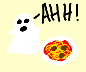 spooked pasta ghost