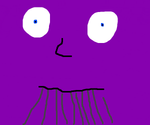 Thanos man stares into your soul