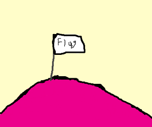 Flag on a Pink Hill