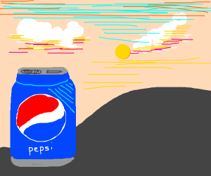 pepsi in the sunset