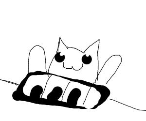 Bongo cat plays keyboard