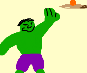 Hulk reaching