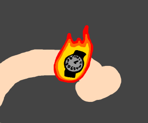 Huh, I guess my watch is on fire
