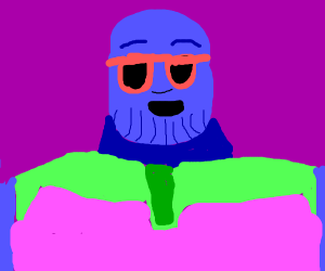 Cool blue thanos