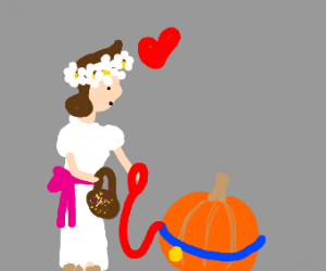 flower girl loves pumpkin pet