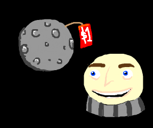 Gru with floaty face buys the moon