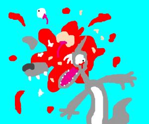 a wolf gets shot
