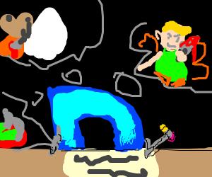 Drawception writing a murder fantasy