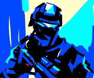 Blue army man