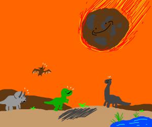 dinosaurs go exctint