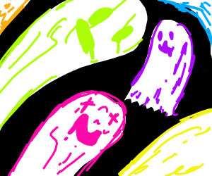 party full of ghosts