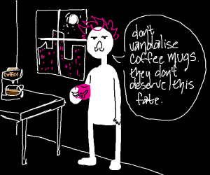 person holding a coffee mug