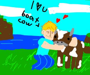Pewdiepie loves cow