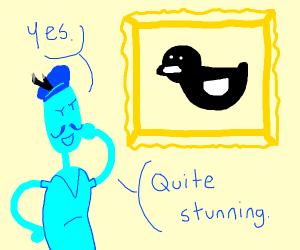 Artist's masterpiece is a quacker