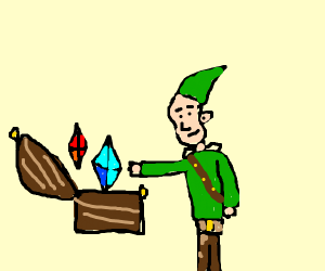 lonk discovers lots of rubies in a chest