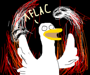 Aflac duck in hell