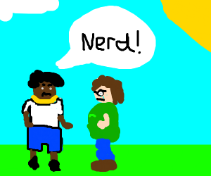 thug picking on nerd