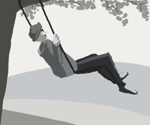 man in swing