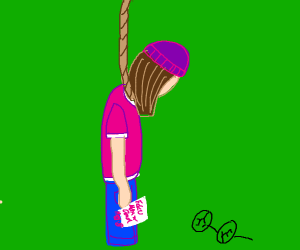 Meg hangs herself