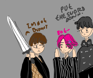 BTS with swords (I'm really really sorry)