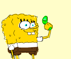 SpongeBob and the pickle