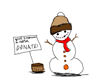 Donate to the snowman!