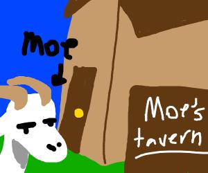 Moe's Tavern But Moe's A Goat