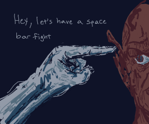 This is how space bar fights start...