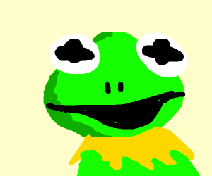 Frog with a smirk