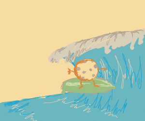 Surf boarding cookie