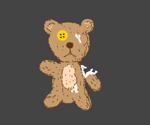 torn up teddy bear