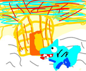 Shark goes to heaven