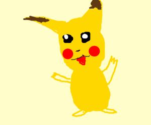 Pokemon-like creature is happy with itself