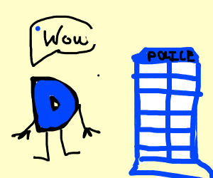 Drawception wowed by the tardis