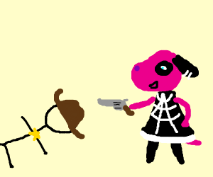 Cherry shoots stickman