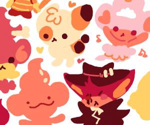 Cute fire/red pokemons
