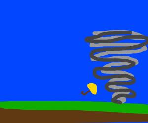 Umbrella in a Tornado