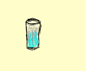 A boring sketch of a glass jar
