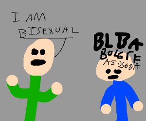 Man comes out as bi and dude is like DERP