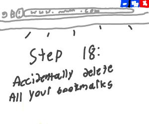 Step 17 : Bookmark favourite videos