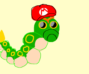 caterpie stole mario's hat!